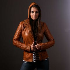 Nia Women Casual Jacket hooded front view